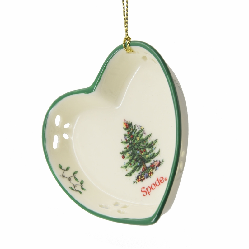 Christmas tree pierced heart dish ornament by spode