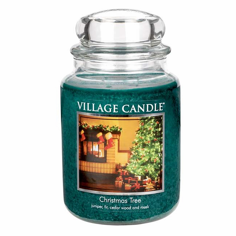christmas tree 26 oz  premium round by village candles