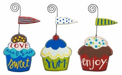 Cupcakes Ornaments - Primitives by Kathy