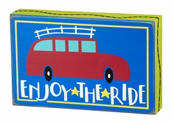 Enjoy The Ride Box Sign - Primitives by Kathy
