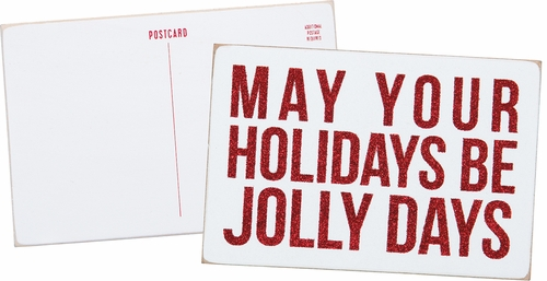 Jolly Days Wooden Postcard - Primitives by Kathy