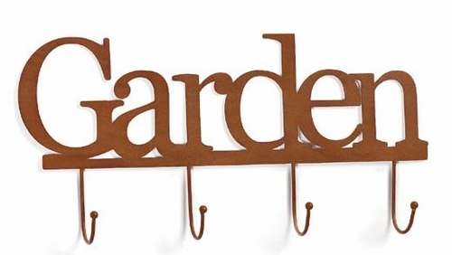 Rustic Garden Wall Word with Hooks - Embellish Your Story