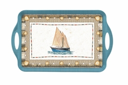 Coastal Breeze Large Melamine Tray by Pimpernel