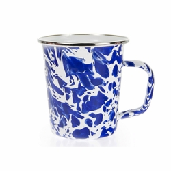 Set of 4 - Cobalt Swirl 16 oz. Latte Mug by Golden Rabbit