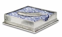 Cocktail Napkin Box with Feather by Match Pewter