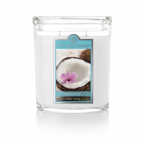 Coconut Rain 22 oz. Oval Jar Colonial Candle