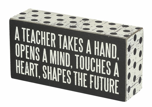 A Teacher Box Sign - Primitives by Kathy