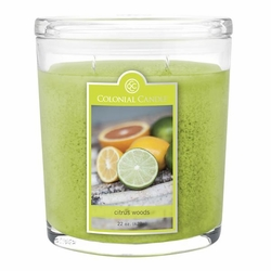Citrus Woods 22 oz. Oval Jar Colonial Candle