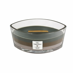 COMING SOON! - Cozy Cabin WoodWick Trilogy Candle 16 oz. HearthWick Flame