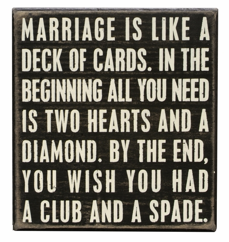 Deck of Cards Box Sign - Primitives by Kathy