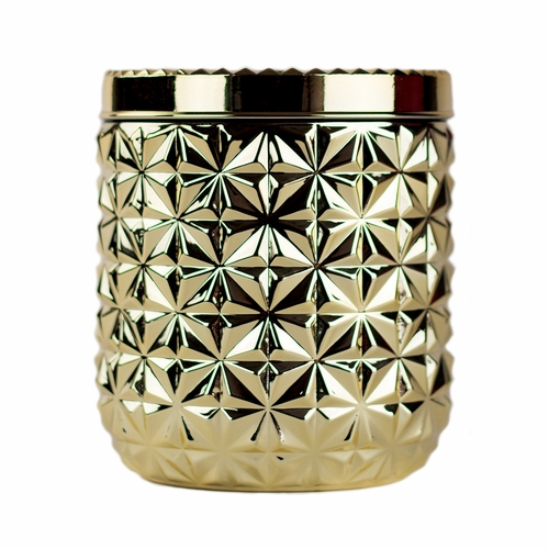 Exotic Blossom & Basil 30 oz. Gilded Muse Jumbo Faceted Jar Candle by Capri Blue