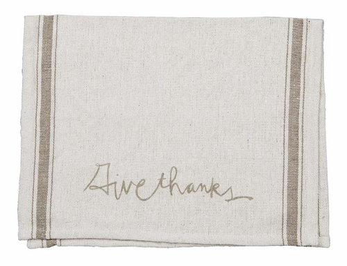 Give Thanks Tea Towel - Primitives by Kathy
