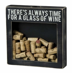 Glass of Wine Shadow Box  - Primitives by Kathy