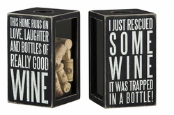 Good Wine Shadow Box  - Primitives by Kathy