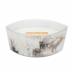 Honey Tabac Artisan Ellipse WoodWick Candlewith HearthWick Flame