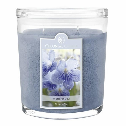 Morning Dew 22 oz. Oval Jar Colonial Candle
