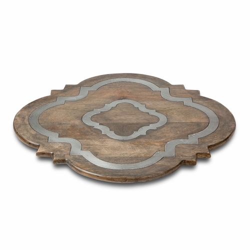 Wood and Metal Ogee-G Lazy Susan - GG Collection