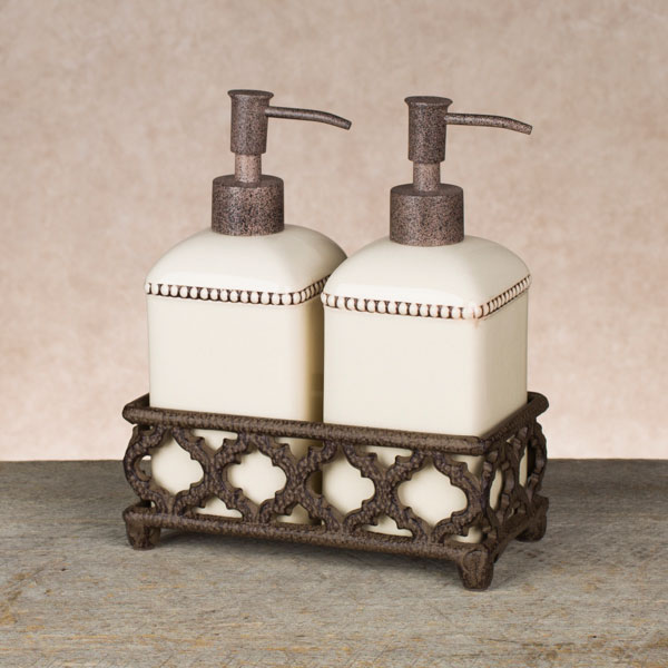 Cream Ogee G Soap Lotion Dispenser Set Gg Collection
