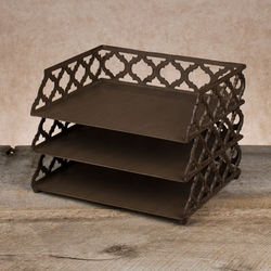 Ogee-G 3 Tiered Metal Stacker Tray - GG Collection
