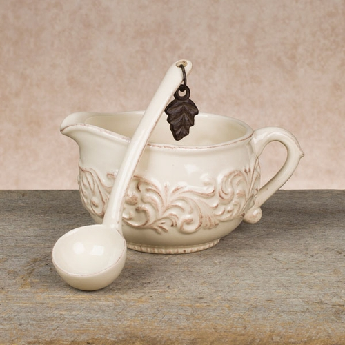 Sauce Boat with Ladle - GG Collection