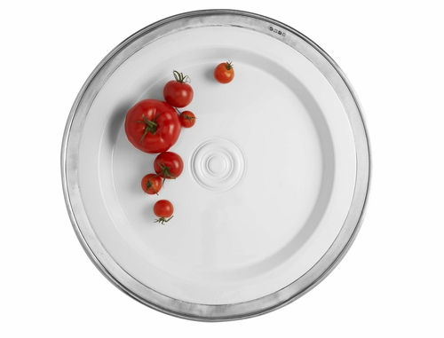 Convivio Large Round Platter by Match Pewter
