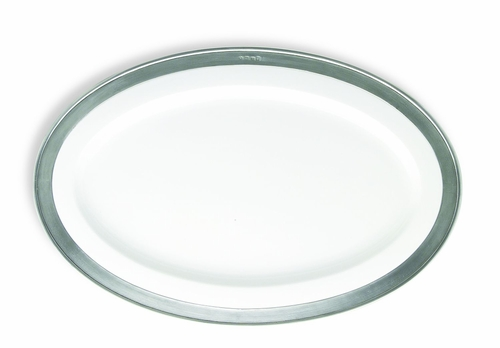 Convivio Medium Oval Serving Platter by Match Pewter