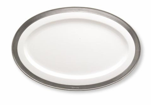 Convivio Small Oval Serving Platter by Match Pewter