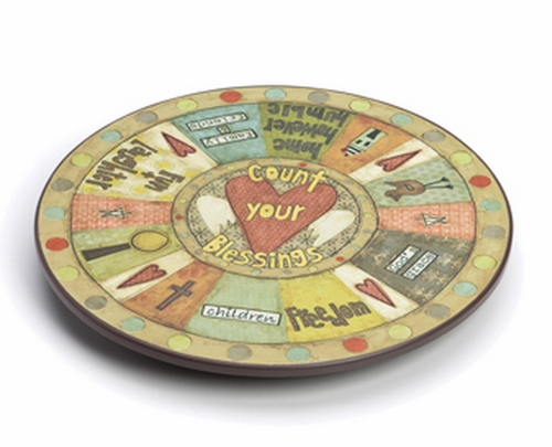 Count Your Blessings Lazy Susan