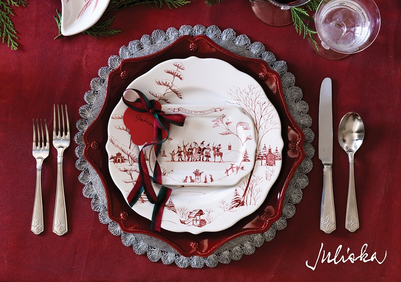 country estate winter frolic ruby gift tray love joy by. Black Bedroom Furniture Sets. Home Design Ideas