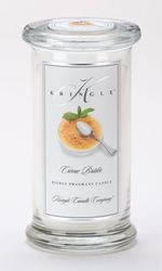 Creme Brulee Large Apothecary Jar Kringle Candle | Large Apothecary Jar Kringle Candles