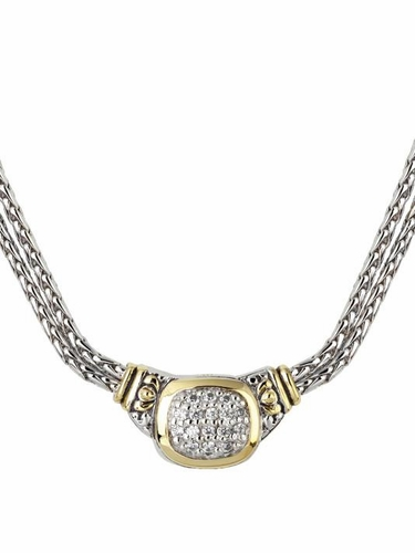 Cubic Zirconia Nouveau Double Strand Necklace by John Medeiros