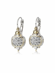Cubic Zirconia Nouveau French Wire Earrings by John Medeiros