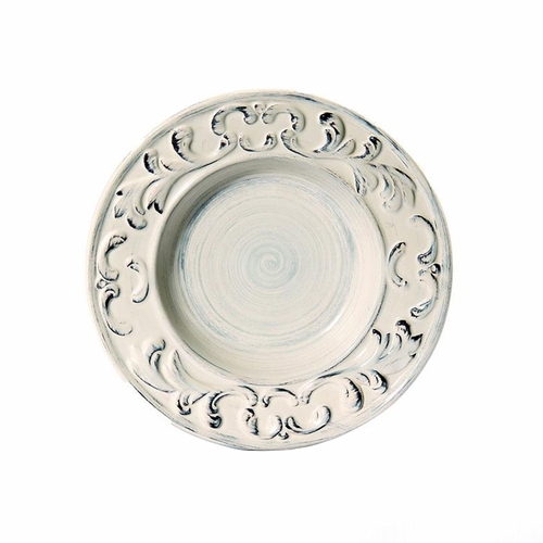 "(D) Baroque Cream Soup Plate 10""D - Set of 4 - Intrada Italy"