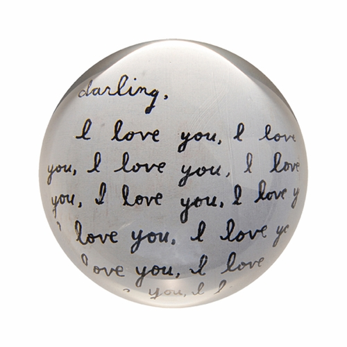 Darling I Love You Paper Weight (Set of 2) by Sugarboo Designs