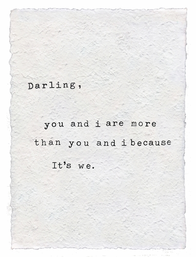 Darling You And I Handmade Paper Print by Sugarboo Designs