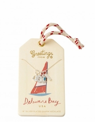 Delaware Bay Silver Charm Necklace - Oh So Witty by Spartina 449