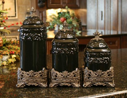 Onyx Medium Ceramic Canister Set