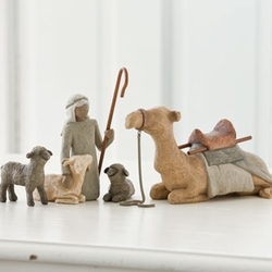 Shepherd and Stable Animals Nativity by Willow Tree