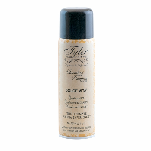 dolce vita 4 oz chambre room parfum by tyler candle company. Black Bedroom Furniture Sets. Home Design Ideas