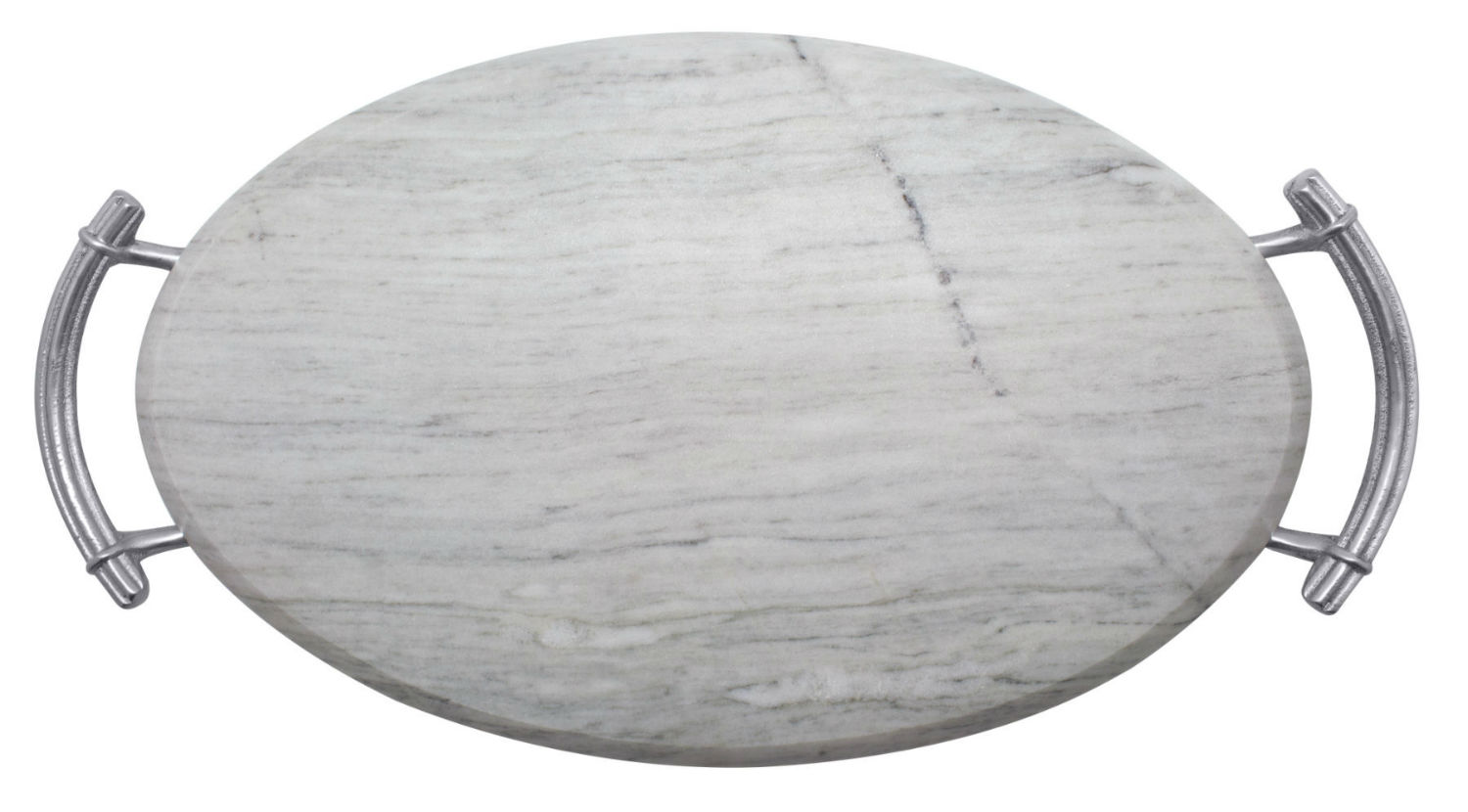 Driftwood Classic White Marble Serving Board By Mariposa