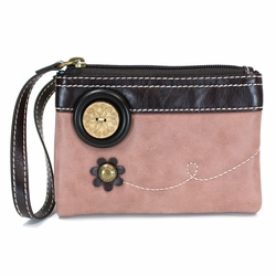 Dusty Rose Double Zip Wallet