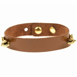English Tan Refined Classic Cuff- Antique Gold - Lenny & Eva