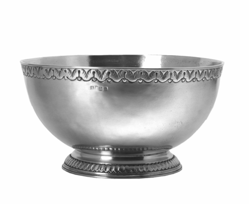 Engraved Rim Deep Footed Bowl By Match Pewter