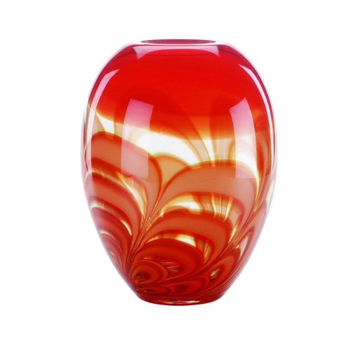 Evolution Red Amber Ginger Vase By Waterford