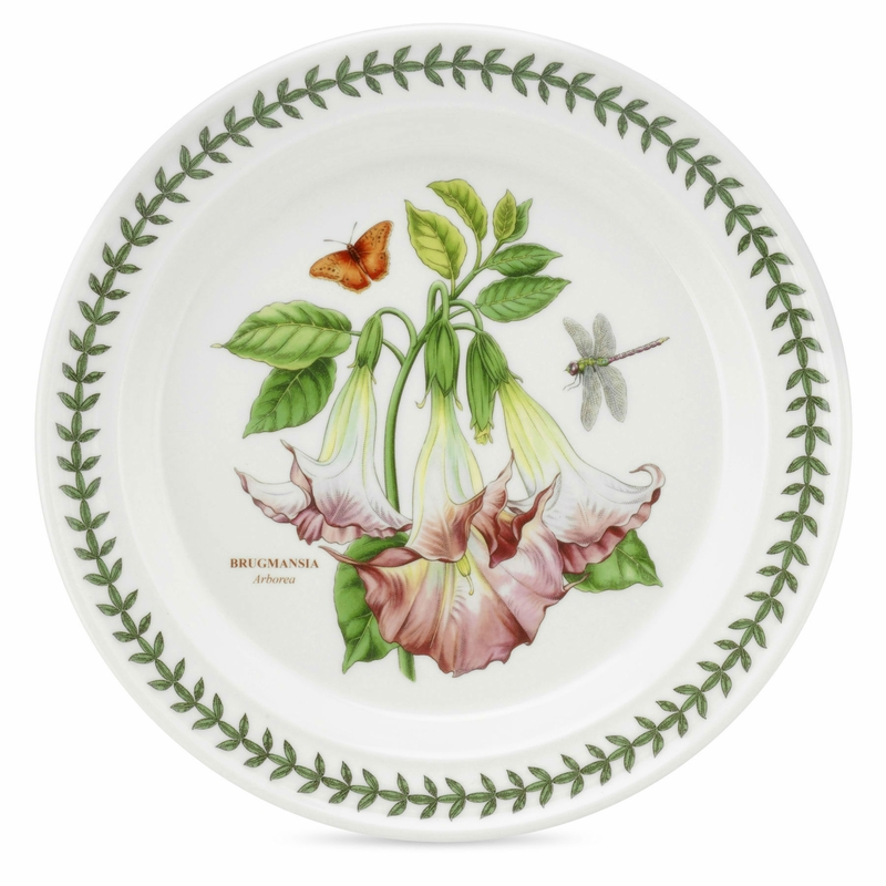 Exotic botanic garden arborea motif set of 6 bread for Portmeirion dinnerware set of 4 botanic garden canape plates