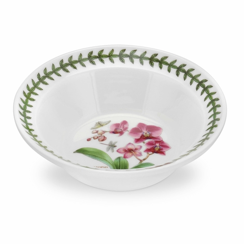 Exotic Botanic Garden Orchid Motif Set of 6 Oatmeal Bowls by Portmeirion