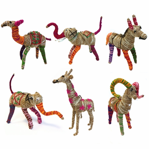 Fairtrade Jute Animals (Set of 6) by Sugarboo Designs