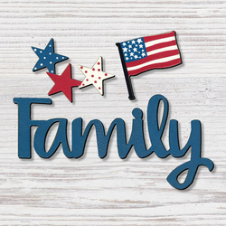 Family with Patriotic Magnet 3 Pack  - Roeda
