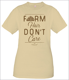 Farm Hair Oatmeal Country Chick Short Sleeve Tee by Simply Southern