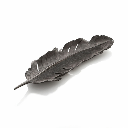 Feather Tray - Black Nickel by Michael Aram